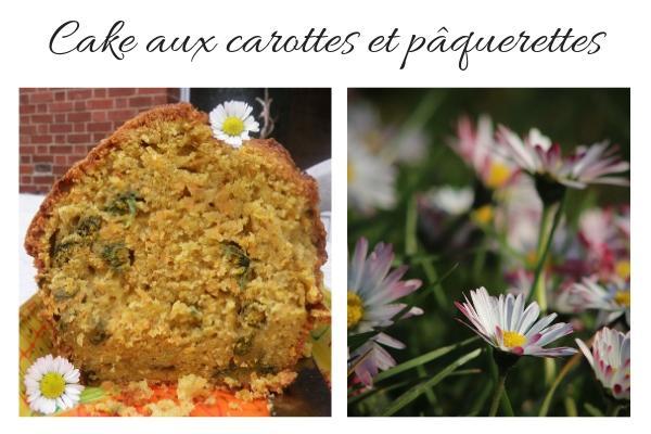 cake carottes pâquerettes
