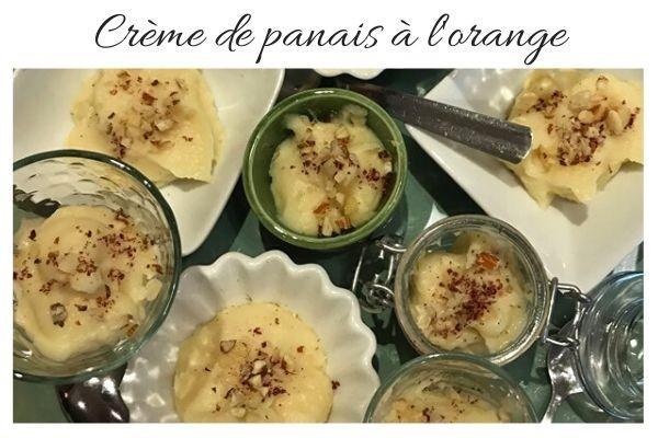 Crème de panais à l'orange