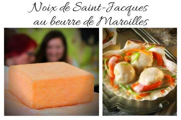 noix de saint jacques au beurre de Maroilles