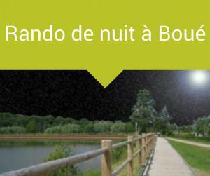 Rando de nuit à Boué
