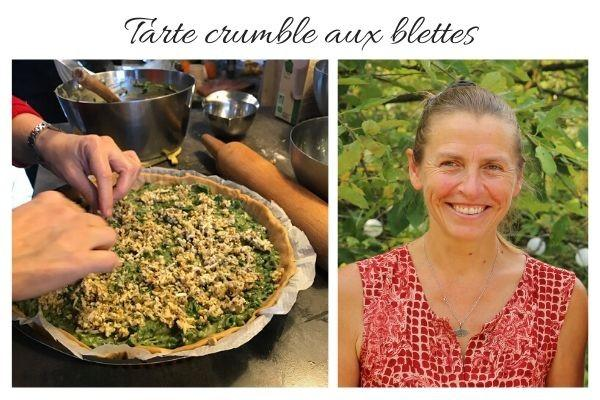 Tarte crumble aux blettes